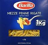 Barilla Pasta Mezze Penne Rigate Semola di Grano Duro - 1 kg