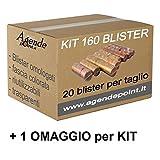 Blister Caja para monedas de euro 160 unidades, surtidos, 20 unidades, plástico para cortar