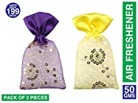 Miracle Plastic Perfumes Potli. Set Of 2 Pieces. Lavender And Sandal Fragrance