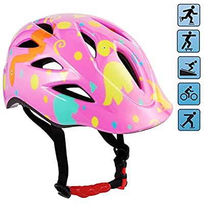 Toddler Kids Cycle Bike Bicycle Helmet Adjustable Road Cycling Safety Helmets for Children Girls Boys Age 5+ (50-53cm/21.3-22.4inch) from Lonlier