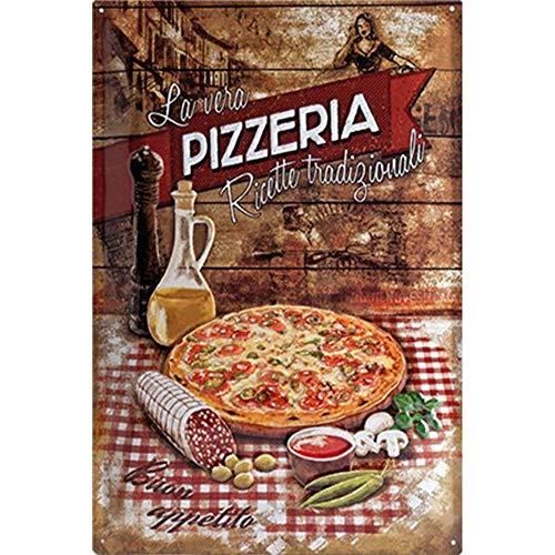 Easy Painter Pizzeria, Metallschilder für Lebensmittel, lustiges Schild, Wanddekoration, für...