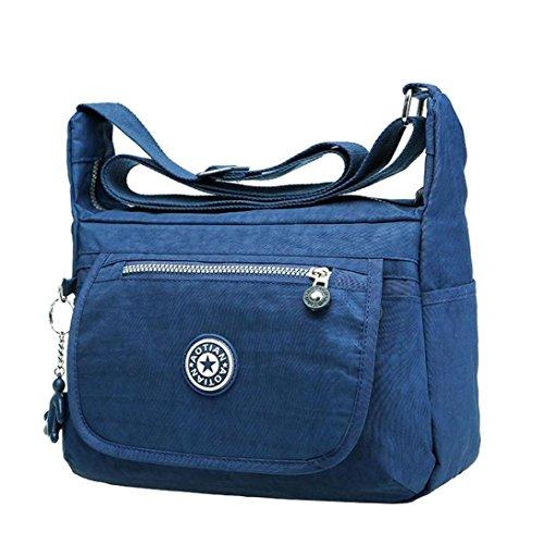 tonseer-loisirs-filles-femmes-impermeables-nylon-messenger-sacs-a-bandouliere-dark-blue