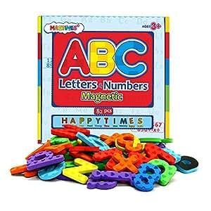 Giocattoli Educativi Lettere e numeri Magnetici per bimbi – educando i bambini con divertimento – 82 Pz