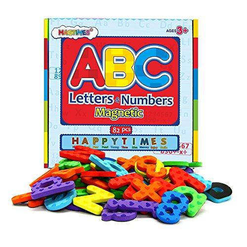 magnetisch, Buchstaben und Zahlen ABC Alphabet Magnete für Kinder Geschenk set-82pcs (Abc-großbuchstaben Alphabet-magnete)