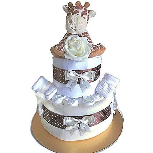Jirafa unisex para pañales o tartas de bebé