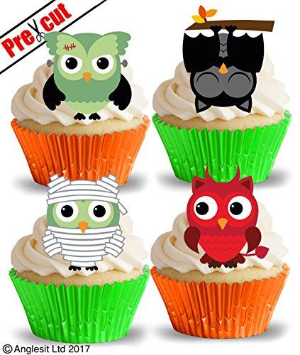loween Eulen II. essbarem Reispapier/Waffel Papier Cupcake Kuchen Topper Halloween Party Dekorationen ()