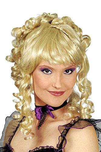 Karneval-Klamotten Perücke Rokoko Barock Perücke hochgesteckt Damen blond