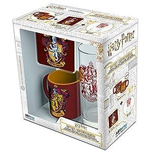 ABYstyle ABYPCK101 Harry Potter Mini Taza con Posavasos y Vaso Gryffindor