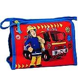 alles-meine.de GmbH Kulturtasche / Waschtasche / Kosmetiktasche - Feuerwehrmann Sam & Feuerwehr - Kulturbeutel - Reisebeutel - Kinder Baby / z.B. für Kinderzahnbürste Babyzahnbür..