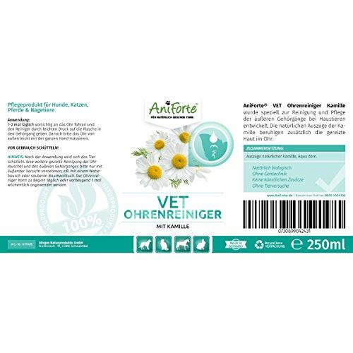 AniForte VET Kamillen-Ohrreiniger 250 ml – Naturprodukt für Tiere - 2