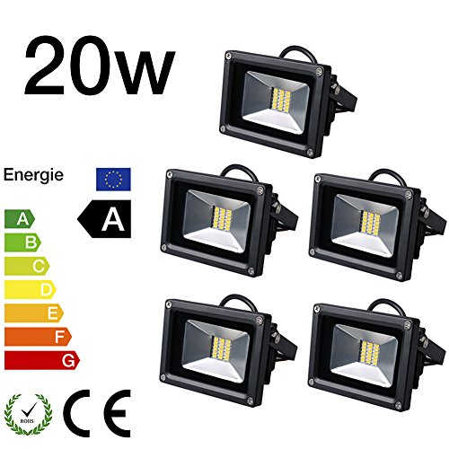5x 20W LED Foco SMD Foco Luz Pared Candelabro