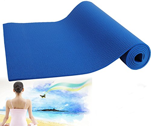 Evana 4Mm Thick Yoga Mat Pad Non-Slip Lose Weight Exercise Fitness Indoor Multicolor Cushion Fold Gymnastics Mat(Colour May Vary)