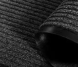 Barrier Mat Heavy Duty Indoor/Outdoor Rubber Mat Non Slip Backing Door mat Entrance Carpet(40x60cm,Black)
