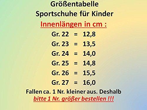 gibra, Sneaker bambini Grigio (grau/neongrün/silber)