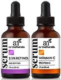 ArtNaturals Vitamin C und Retinol Serum - Anti Aging Set - je 30 ml