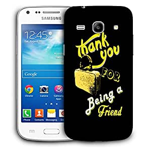 Snoogg Thank You Designer Protective Back Case Cover For Samsung Galaxy Core Plus