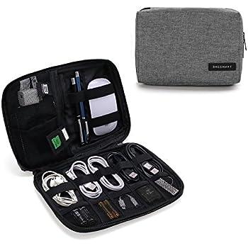 d0a4cafe20 BAGSMART Organizzatore Cavi da Viaggio Universale per Electronici Accessori Organizer  Cavi Custodia da Viaggio Impermeabile Grigio