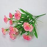 ZTMDHD10 tête 1 Bouquet Fleurs Artificielles Pas Cher Oeillets Soie Décoratif Faux Fleurs pour Mariage Décoration De La Fête des Mères Cadeau