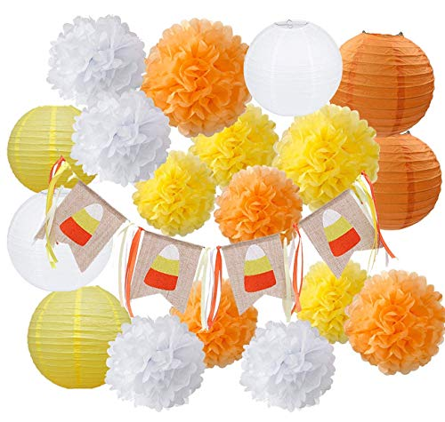 HappyField Herbst Party Dekorationen, Herbst Dekorationen, Herbst Banner, Thanksgiving Party Dekorationen, Orange Party Kit Thanksgiving Party Dekorationen / Geburtstagsfeier Dekorationen