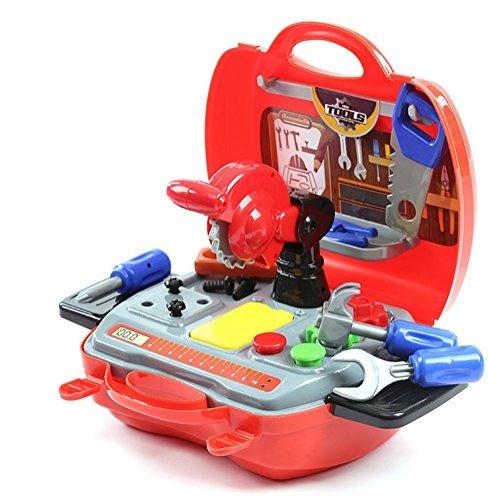 Preisvergleich Produktbild DiBang Werkzeug Spielzeug Werkzeugkoffer Werkzeugkasten mit Werkzeug für Kinder Groß