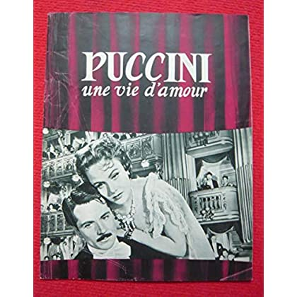 Dossier de presse de Puccini Une vie d'amour (1953) – 24x31 cm, 8 p - Film de Carmine Gallone avec Marta Toren, Gabriele Ferzetti – Photos N&B - résumé du scénario – Bon état.