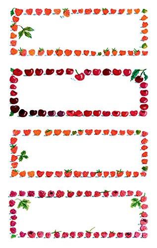 Avery 59693 marmellate etichette, cornice di frutta, riposizionabili, 12 Sticker - Frutta Cancelleria