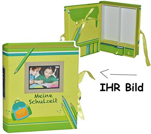 Unbekannt Ordner / Sammelbox -  Meine Schulzeit  - mit Fächern - Groß zum Aufbewahren von Erinnerungen - z.B. Fotos / Fotobuch / Zeugnisse Schuljahr Freunde - Schulan..