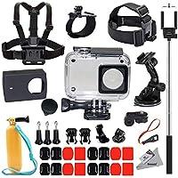 Deyard Y-05 Schutzwasserdichtes Gehäuserahmen für Xiaomi 4K/4K+/Yi Lite/Yi Discovery 35 in 1 Zubehör-Bündle für Xiaomi 4K/4K+/Yi Lite/Yi Discovery Action-Kamera 2