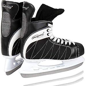 Physionics Eishockey Schlittschuhe Eislaufen in Schwarz in den Größen von 40 bis 46 (44)