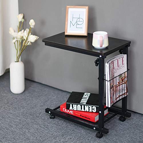 Feifei Beistelltisch mit Roller Couchtisch Höhenverstellbare Faule Nachttisch Sofa Computer Schreibtisch (Farbe : 04)