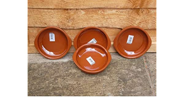 Lot de 10 x 10cm espagnol en terre cuite tapas plats//cazuelas tapas pots