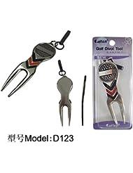 EliteShine Metal marcador de pelota de Golf Divot herramienta (D123)