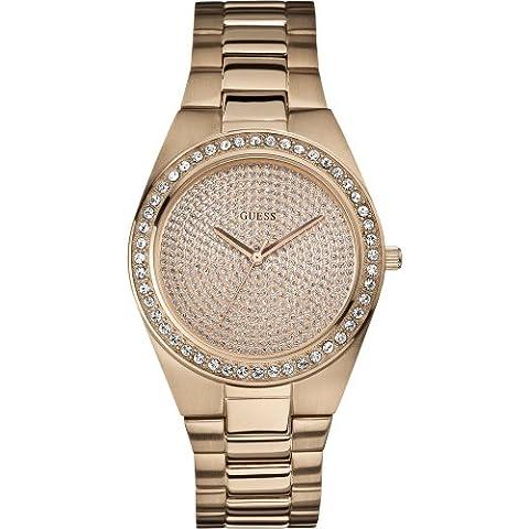 Guess Damen-Armbanduhr Analog Quarz Edelstahl beschichtet W12651L1