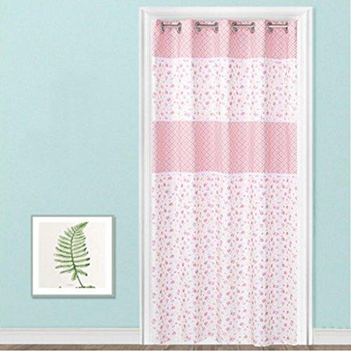 Liuyu · Lebendes Haus Tür Vorhang Tuch abgeschnitten Schlafzimmer Wohnzimmer Erkerfenster lang ( Farbe : Pink , größe : 220*200cm )