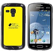 All Phone Most Case / Sonderangebot Hart PC HandyHülle Hartschalenkoffer Étui Tasche Schutzhülle / Hard Case for Samsung Galaxy S Duos S7562 // Flying Toaster Warning - Funny