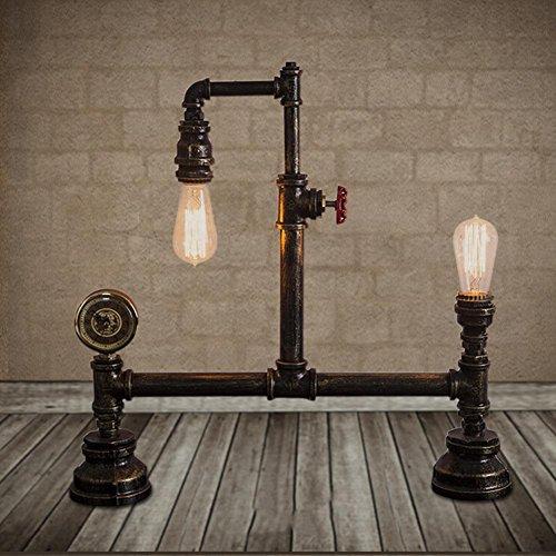 FUGUTADDENG Industrial retro table lamp loft personality hose lights bar cafe decoration