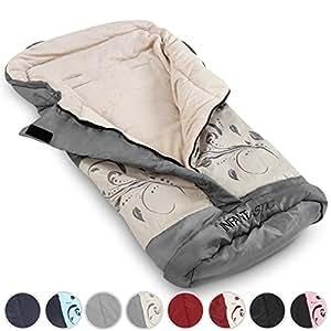 Infantastic Baby Sleeping Bag Winter Footmuff Warmer for Stroller Car Seat (Grey with pattern)