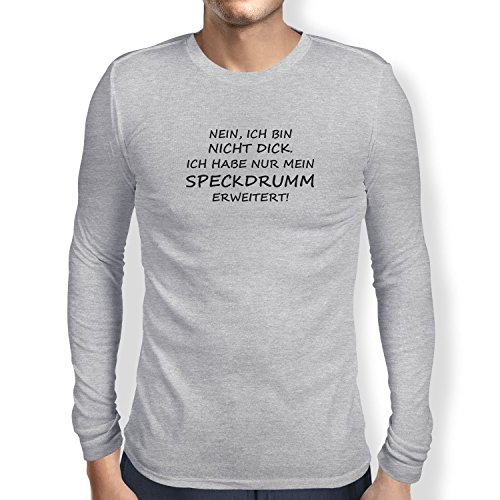 TEXLAB - Speckdrum - Langarm T-Shirt Graumeliert
