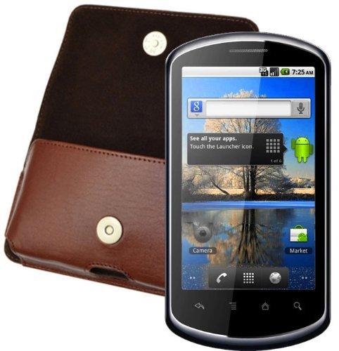 Original MTT Quertasche fuer / Huawei U8800 IDEOS X5 / Horizontal Tasche Ledertasche Handytasche Etui mit Guertelclip* in Braun