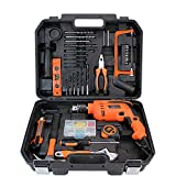 LWOL 39 Pcs Tool Set Boîte à Outils de ménage à la Maison avec des Outils de précision avec Une clé, perceuse électrique, perceuse à usages Multiples pour Hommes