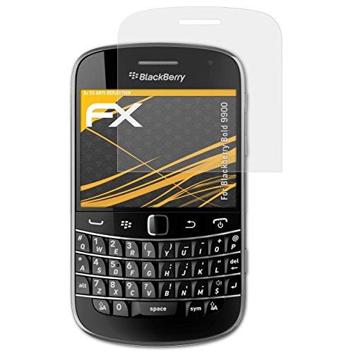 atFolix Panzerfolie kompatibel mit BlackBerry Bold 9900 Schutzfolie, entspiegelnde und stoßdämpfende FX Folie (3X) Blackberry Bold Screen Protector