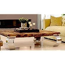 Wohnzimmertisch Couchtisch Tisch Schwemmholz Treibholz Mbel Maison Chrom Deko