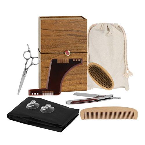 Beard-Care-SetINKERSCOOP-Beard-Gift-Set-7-Piece-Beard-Brush-Stainless-Beard-Scissors-Manual-Razor-Beard-Mask-Beard-Bib-Beard-Combs-Gifts-Box-Beauty-Gift-Set-for-Men-Barterc