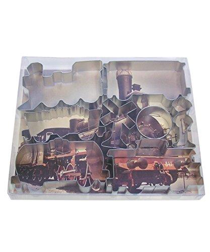 R&M International 1884 Ausstechformen, Motiv Feuerwehrwagen, Hund, Hydrant, Helm und LKW, 4-teiliges Set Zug 1 - Pack Silber Helm Cookie Cutter