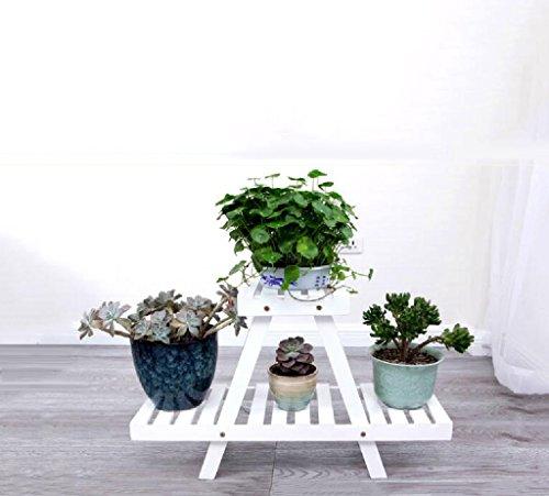 Étagères de bureau de balcon de plancher de fleur de balcon de bonsaï de balcon de support de plancher blanc (taille : S)