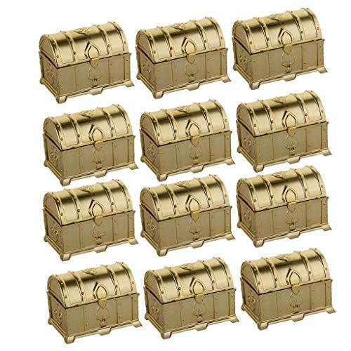 Geschenkboxen, Kunststoff, Geschenktüten, Weihnachten, Hochzeit, für Kekse, Kuchen, Schokolade, Bonbons, Snack, Geschenk Gold ()