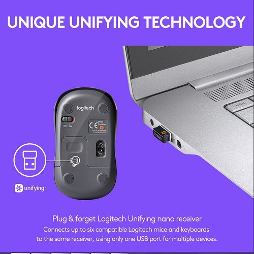 Logitech M235 Wireless Mouse (Grey)