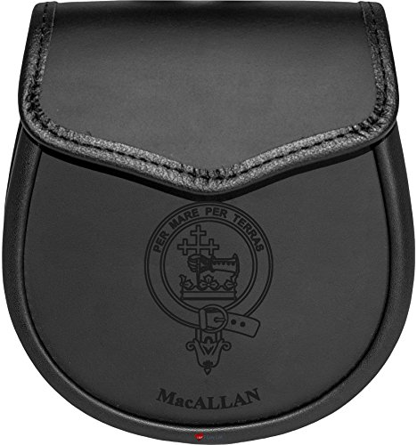 Price comparison product image MacAllan Leather Day Sporran Scottish Clan Crest