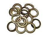 30mm Bronze Ösen Ringe mit Unterlegscheiben–Perfekt für Leder Handwerk, Vorhänge, Drapes und PVC Banner von trimmen Shop (10Stück)