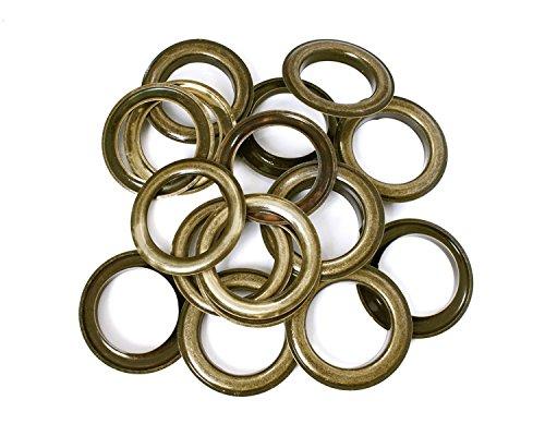 30mm Bronze Ösen Ringe mit Unterlegscheiben-Perfekt für Leder Handwerk, Vorhänge, Drapes und PVC Banner von trimmen Shop (10Stück) - Drape Kit